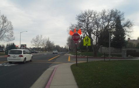 New stop sign adds to campus and traffic safety