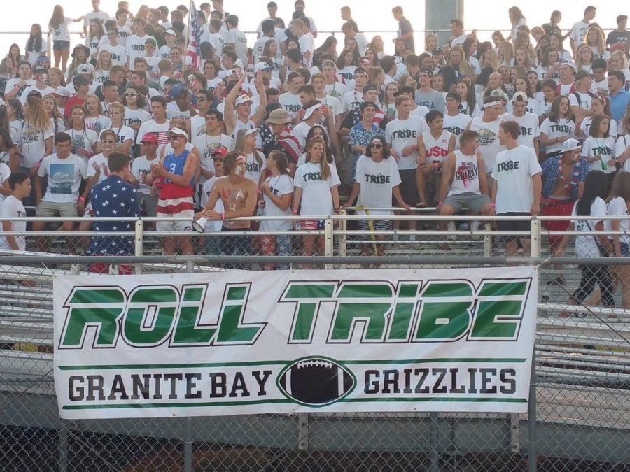 The+GBHS+Tribe+has+been+pushed+back+to+the+stands+after+spending+much+of+last+year+in+the+end+zone+during+football+games.
