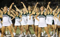 Cheers at the field: Erin Larson shows spirit at homecoming game