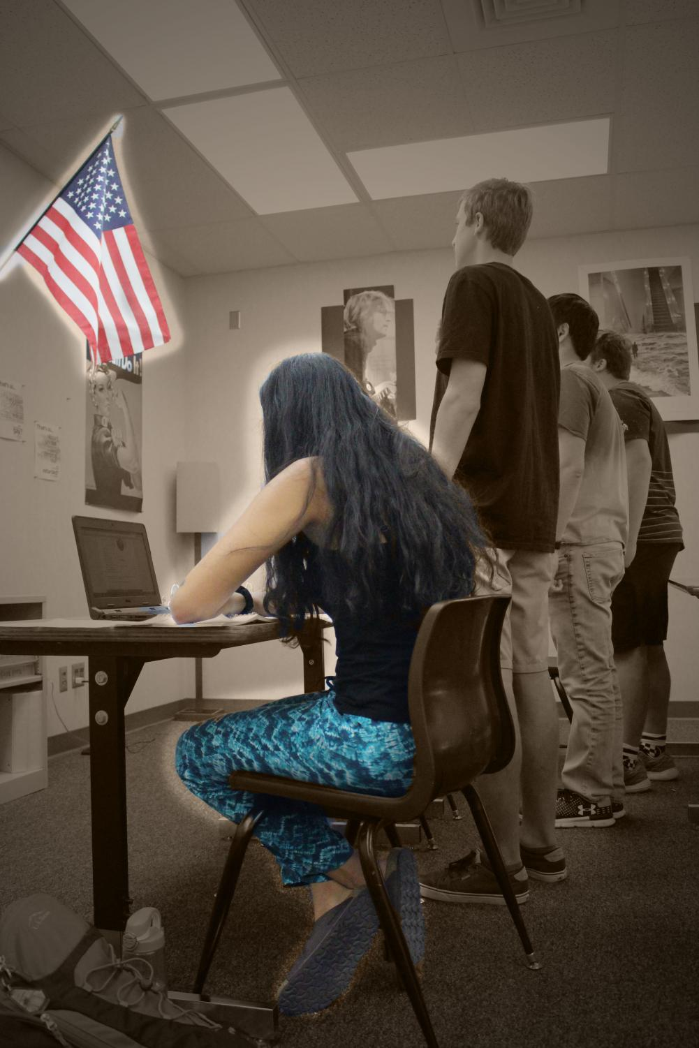 As a result of a Supreme Court case decided in 1943, students in the United States have the right to respectfully decline to participate in the Pledge of Allegiance.