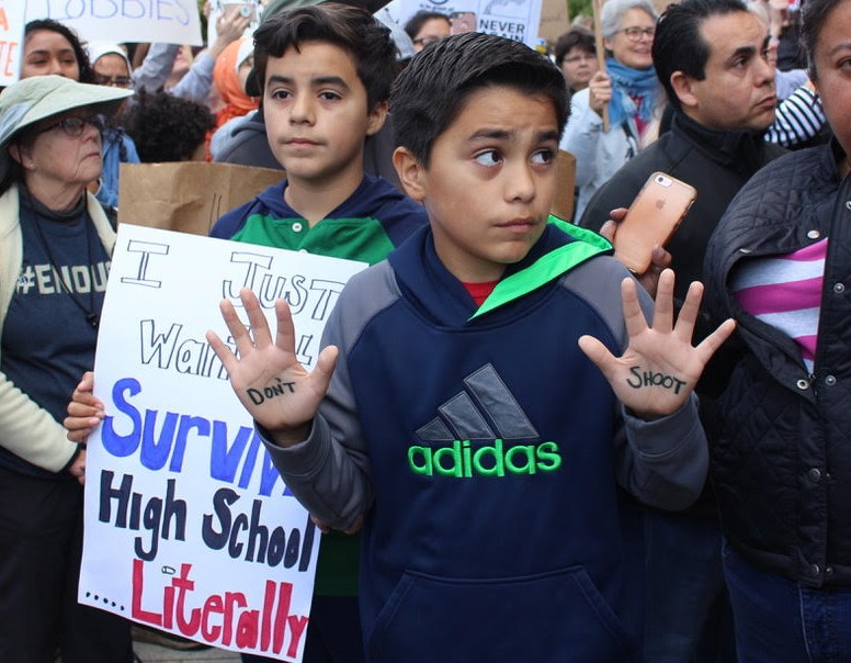 Two+boys+were+among+the+hundreds+of+protesters+at+the+California+State+Capitol+during+the+March+for+Our+Lives+protests.+