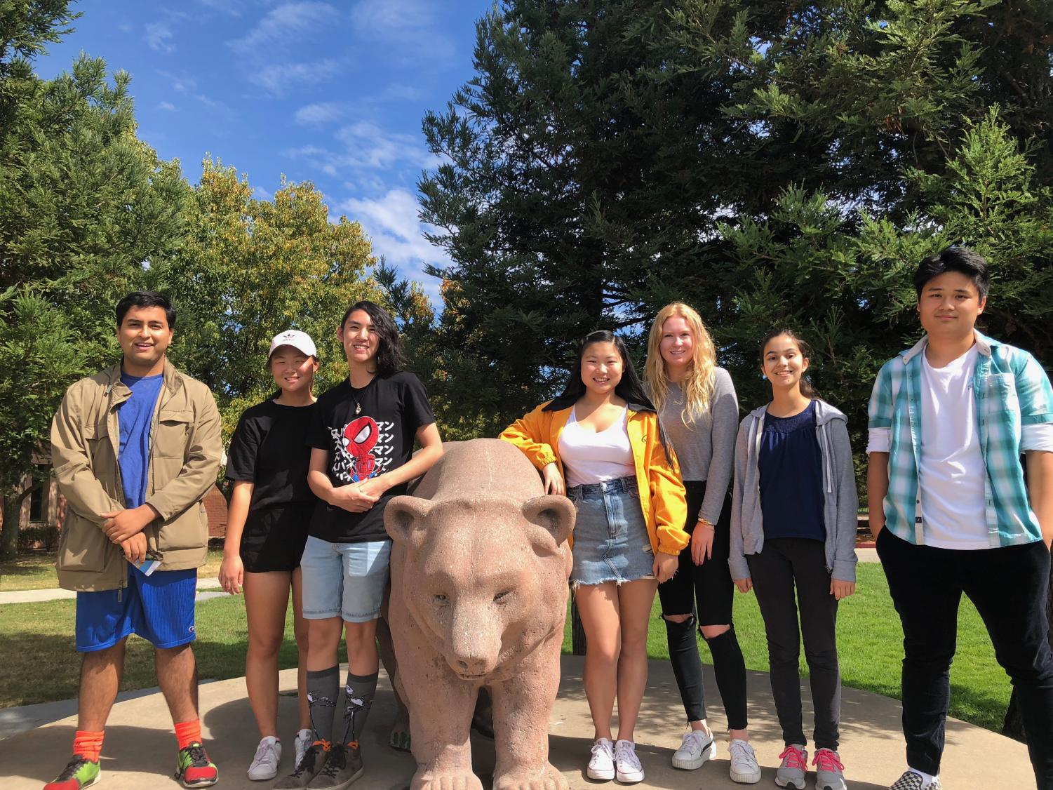 Seven Granite Bay High students have been named semifinalists in the National Merit Scholarship competition. They are, left to right, Aditya Mishra, Yena Jang, Joshua Tateishi, Vivian Xia, Emily Hansen, Julie Lynch and Andrew Yung.