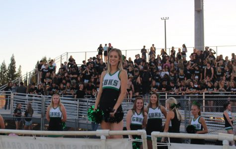 Cheerleaders wave goodbye to basketball season