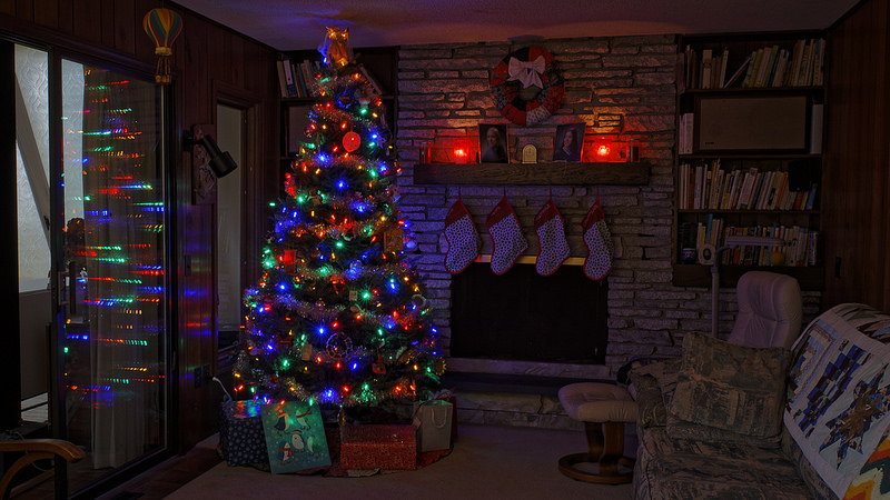 A+Christmas+tree+bringing+the+spirit+of+the+holidays+into+a+family%27s+home