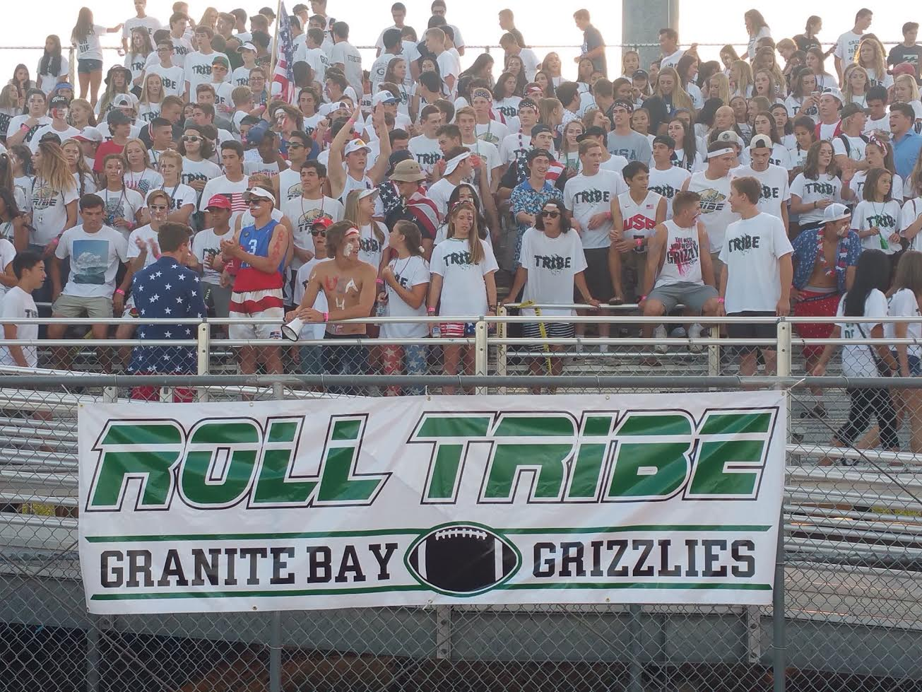 The GBHS Tribe has been pushed back to the stands after spending much of last year in the end zone during football games.