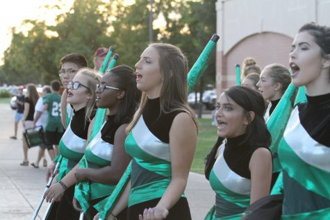 Homecoming in the bandstands: For freshman Juliet Arizcuren, it was just a more exciting Friday night