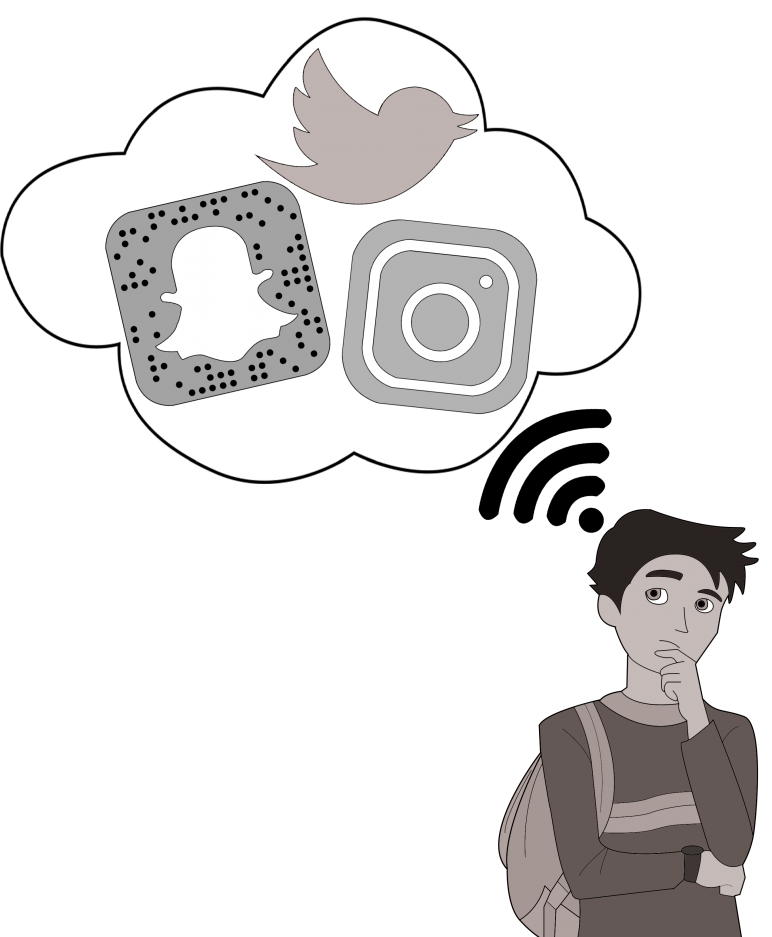 Popular social media apps such as Twitter, Snapchat and Instagram are blocked on the RJUHSD server.