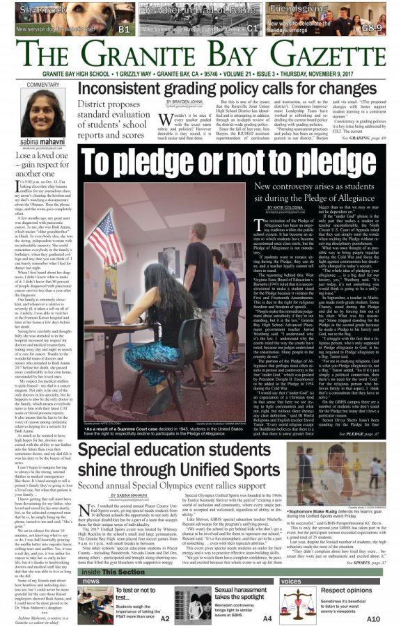 The Gazette print issue, Nov. 2017
