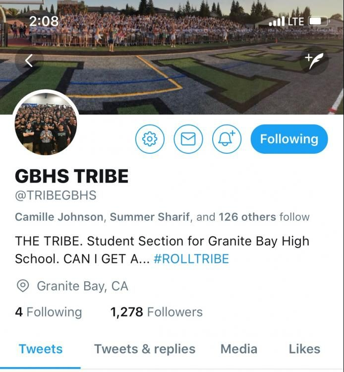 A look at the GBHS Tribe Twitter account