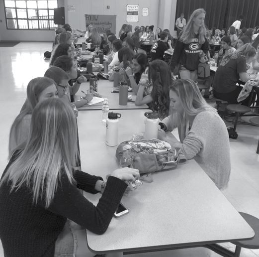 Students in the cafeteria sit in separate groups with their friends. Granite Bay High School has been accused of having a lot of cliques. However, some students feel as though that it might not be as prevalent.