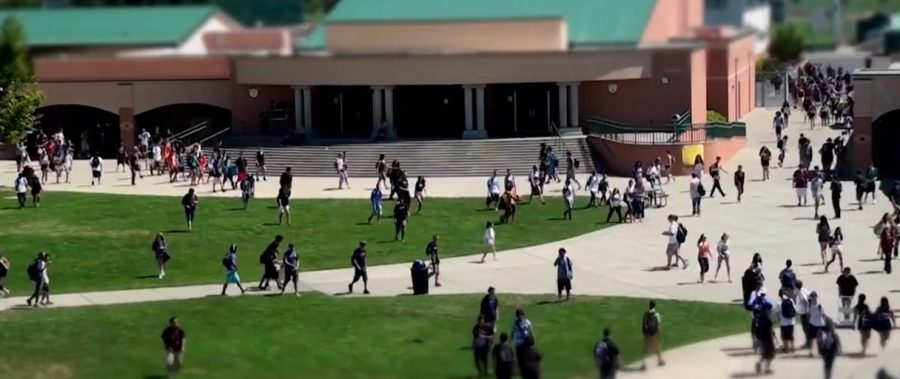 The usual hustle of Granite Bay High School, depicted above, is now a distant memory. Debate is rampant on whether or not students should return to campus.