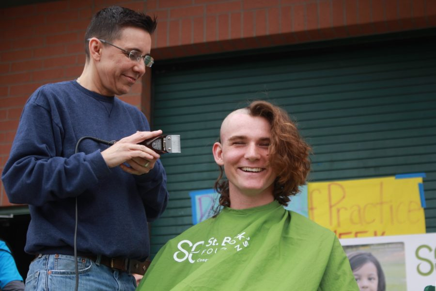 Students+shave+their+heads+and+raise+donations+for+childhood+cancer