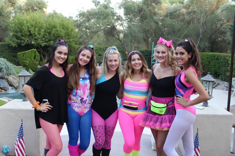 Left to right: Noelani Nichols, Milan French, Reese Richmond, Mackenzie Brown, Kennedy Healy, Mckenna Aram Journalism girls excitedly awaiting first dance of senior year