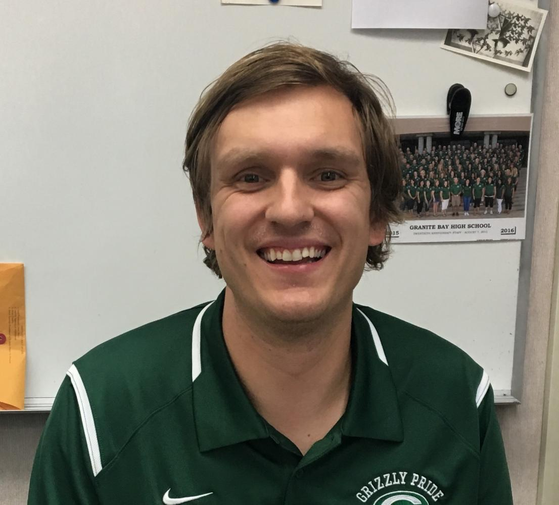 Tyler Jaynes is a new Integrated Math 2 teacher and a previous GBHS graduate.