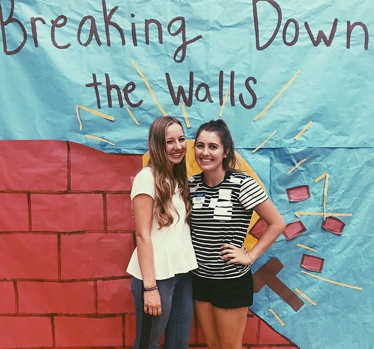 Sisters+Sydney+and+Alyssa+Sewell+attended+Breaking+Down+the+Walls%2C+both+as+leaders.