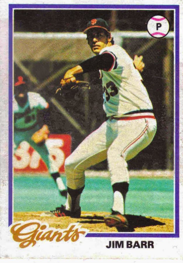 Jim Barr was a former professional baseball player for the Giants and Angels, and is a current GBHS baseball coach.