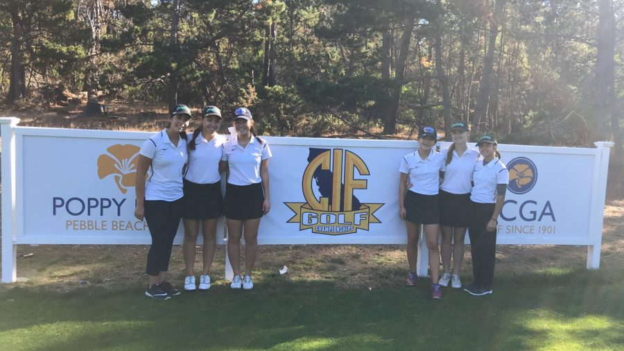 Girls' golf makes history