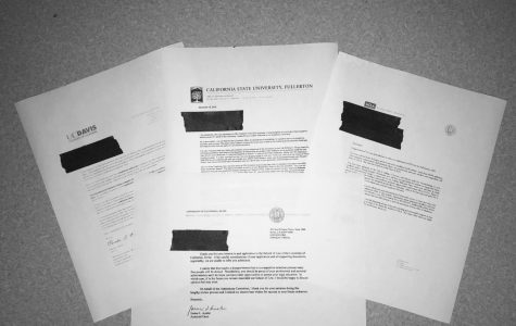 College admission denial letters gathered from students at GBHS.