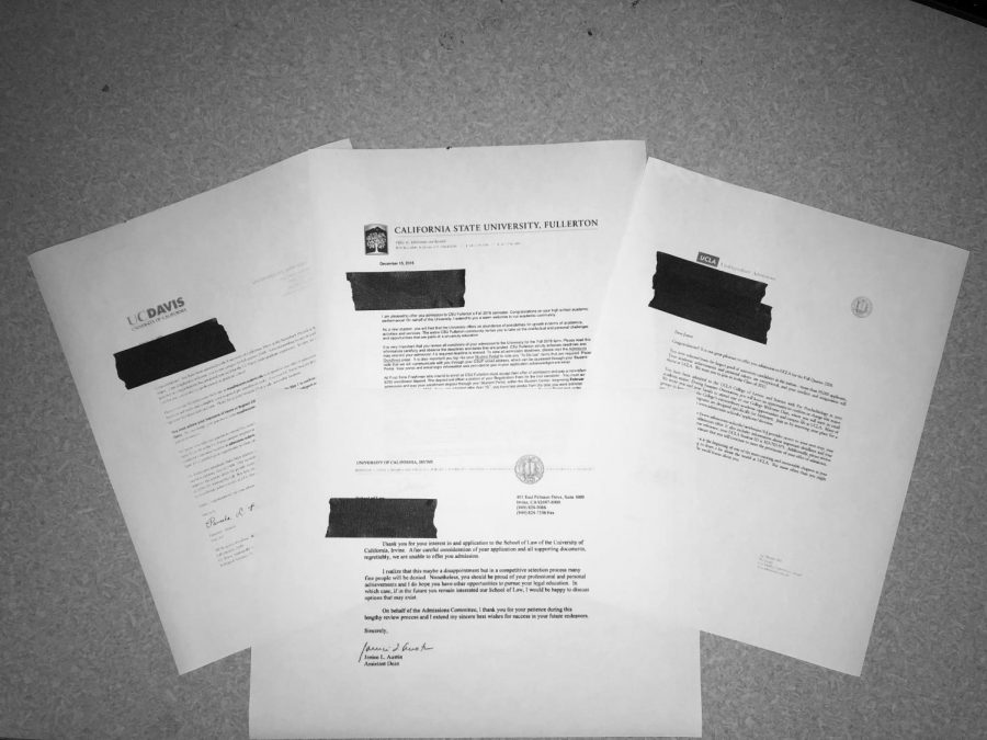 College+admission+denial+letters+gathered+from+students+at+GBHS.