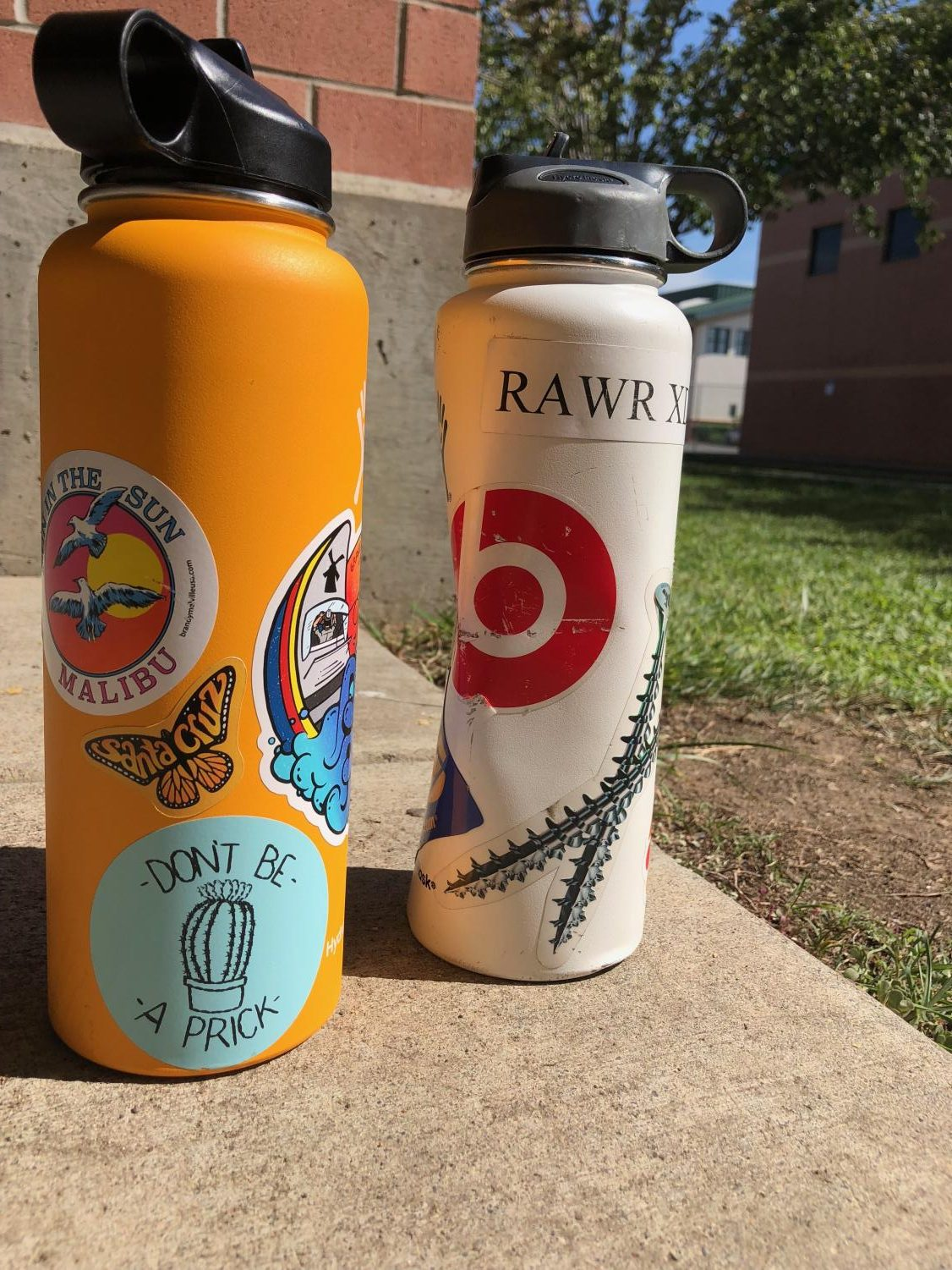 Student Hydroflask stickers have raised the eyebrows of concerned GBHS administrators.