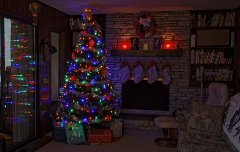 A Christmas tree bringing the spirit of the holidays into a family's home
