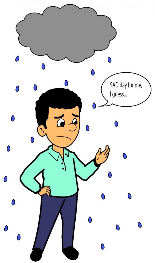 Those who suffer from the effects of SAD typically don't look forward to overly rainy days. The cause of the disorder is unknown, but it affects the circadian rhythm of sufferers and can last throughout the winter.
