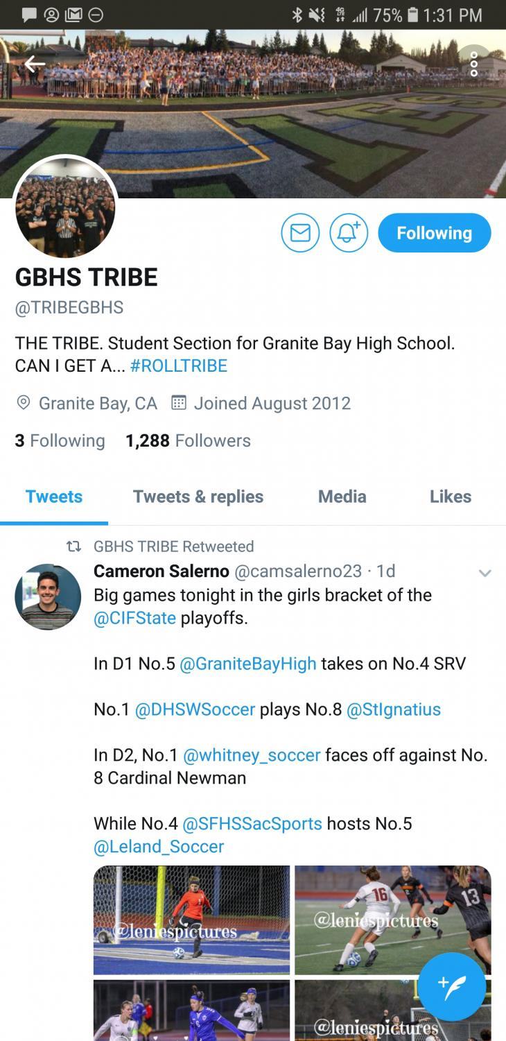 The Tribe's Twitter account has over 1,000 followers and tweets at least once a week.