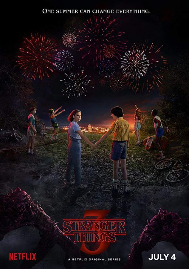 Netflix Original, Stranger Things, is releasing a third season July 4, 2019.
