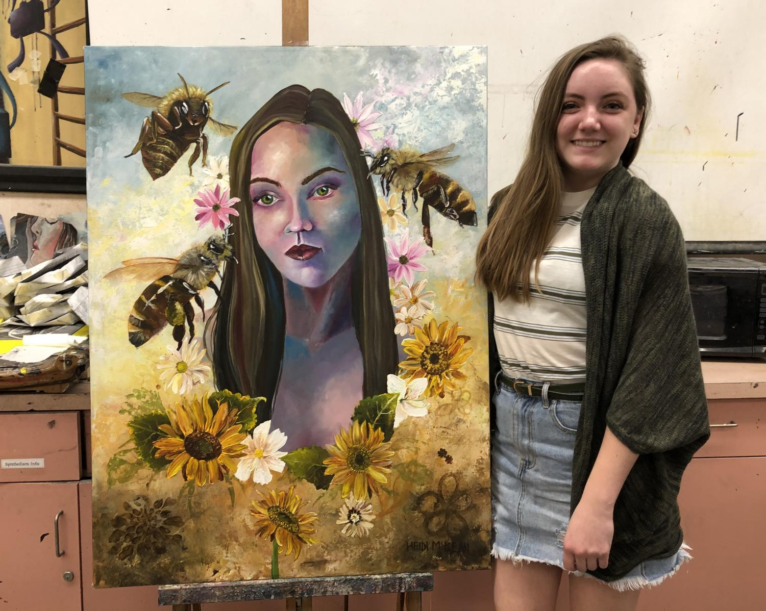 Heidi McKean is a senior  and has taken at least four art classes at GBHS.