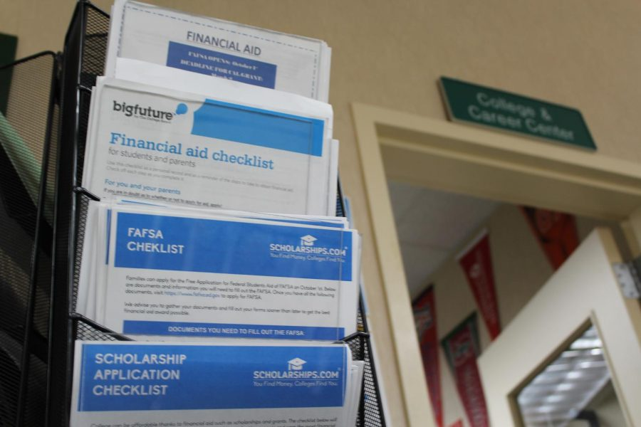 The College and Career Center at GBHS has informational papers regarding financial aid on a paper stand just outside.