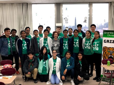 The Science Olympiad club at GBHS poses for a group photo. Elizabeth Henderson is the advising teacher for this club.