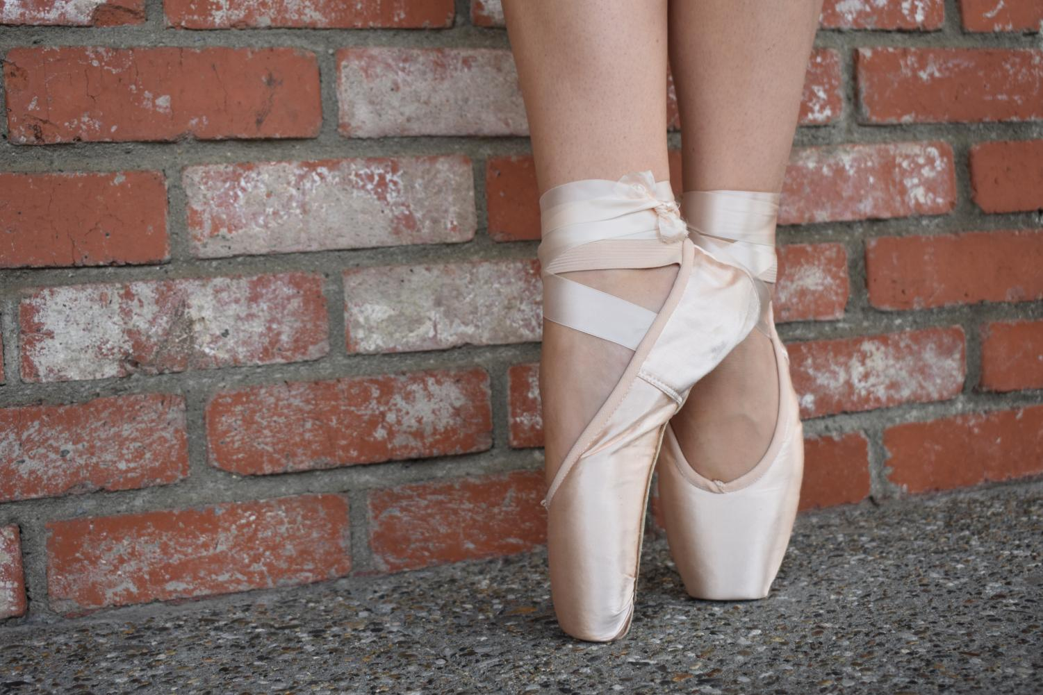 Dancing on pointe, is one of Wade's many talents, to reach that level of expertise in dance takes many years and hours of practice to achieve.