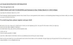 Registration dates change for AP and IB tests for '19-20