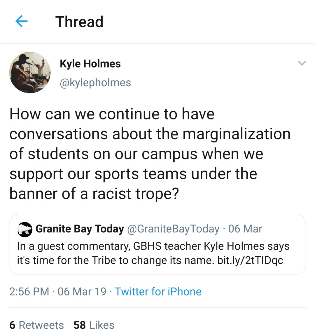Holmes retweeted his piece on Twitter, sparking more conversation about the Tribe.