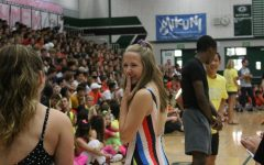 Ashlynn Hultman waits her turn to be part of one of the many rally activities.
