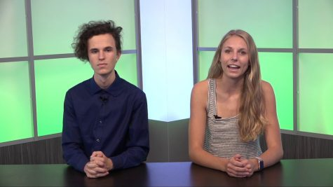 Jake Russell (left) is also one of the anchors during the GBTV bulletins.