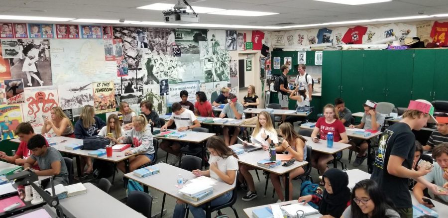 AP US History is a popular class, and each period has an abundance of students. This term's third period class has around 41 students enrolled.