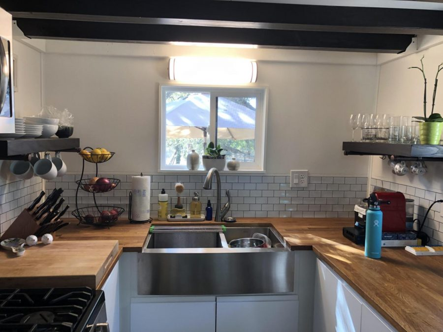 GBHS French teacher Madame Guerné's tiny house features a surprisingly large kitchen.