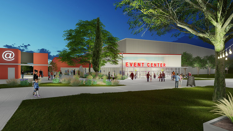 The graphic representation of the potential graduation venue for Roseville Joint Union High School District schools is currently on The Grounds website.