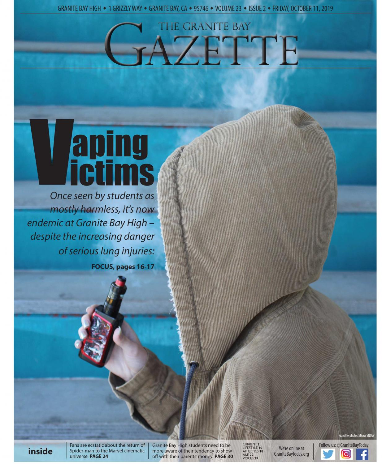 Granite Bay Gazette, Vol. 23, Issue 2, October 2019