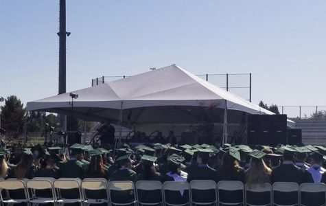 Graduation ceremonies such as the one for GBHS's class of 2019 pictured above are off the table with the current prohibitions on large gatherings.