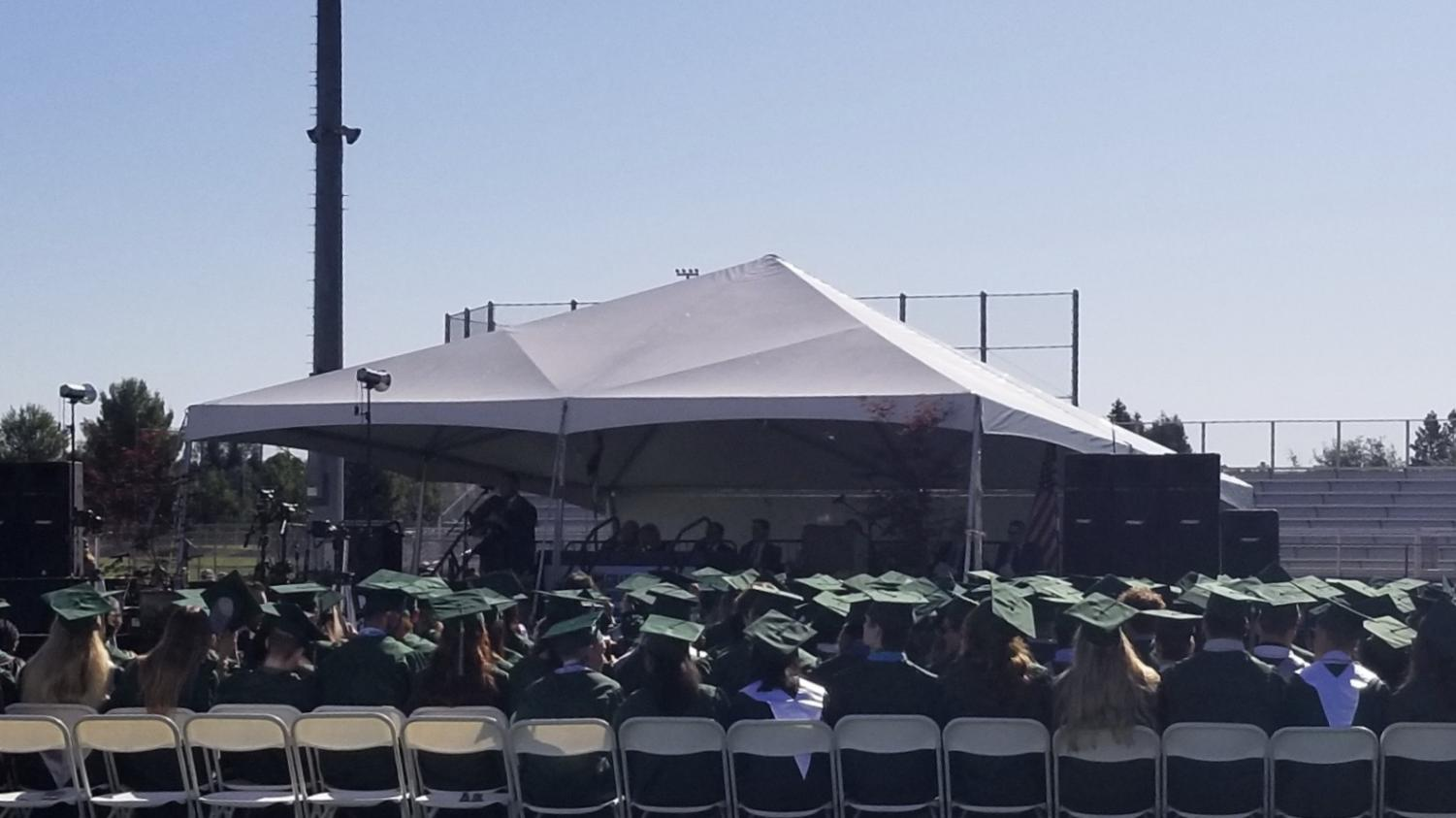 The GBHS class of 2019 graduation ceremony was held on the football field, as it has as tradition/