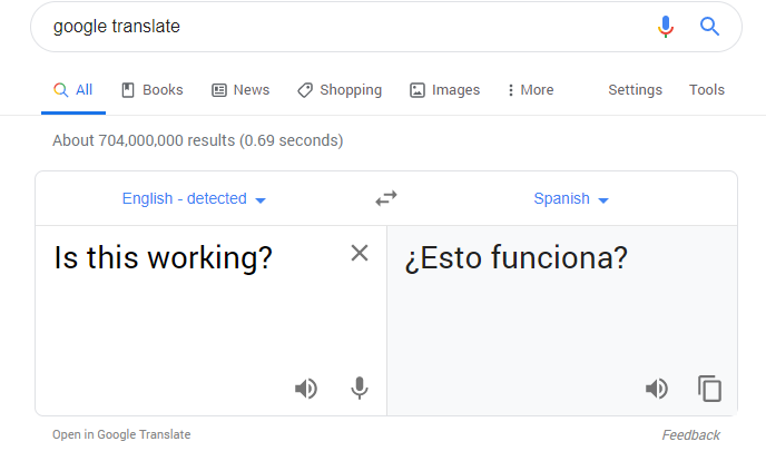 Students use Google Translate pretty often, much to the chagrin of the world language department.