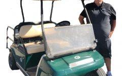 Granite Bay High's golf cart guy