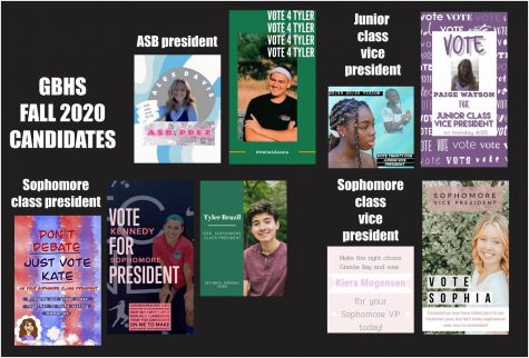 Nine students are competing for ASB and class offices in the GBHS election on Monday, April 20.