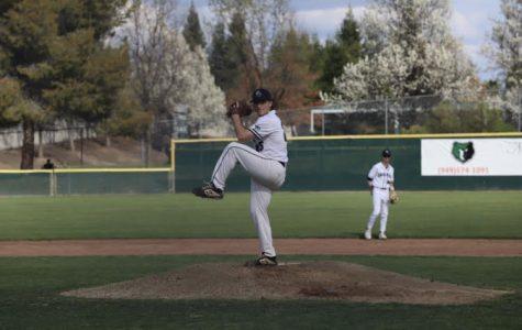 GBHS junior Joe Plise pitches during his baseball game before coronavirus ended their season.