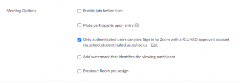"In efforts to prevent ""Zoom bombing"", students are now required to ""activate"" their accounts in order to be admitted into their Zoom meeting."