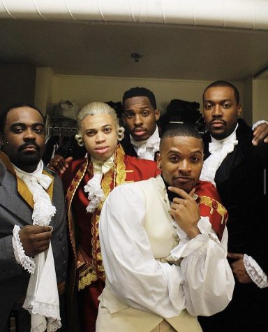The cast of Hamilton, pictured above, is comprised of many people of different races than the historical characters they depict.
