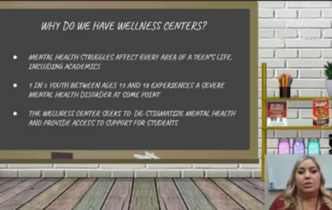 In the Suicide Prevention video, counselors in the Wellness Center provide information regarding mental health services available to students during distance learning.