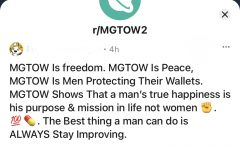 MGTOW is a group on Reddit that expresses anti-feminist views